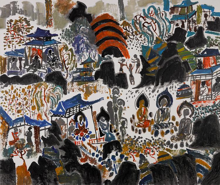 """""""我本自由——刘绍荟从艺六十周年艺术展""""在清华大学艺术博物馆开幕"""
