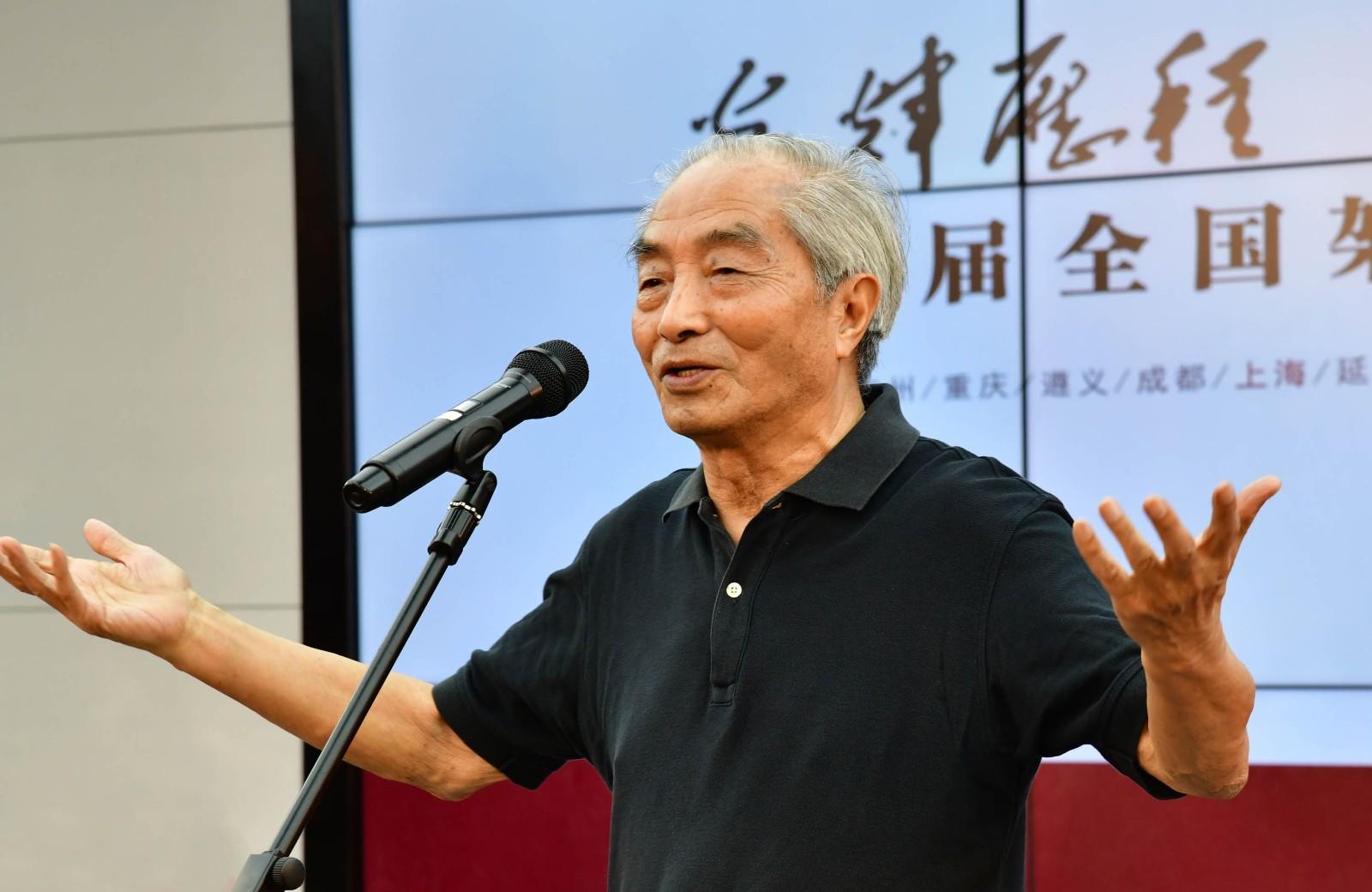 5 上海民盟书画院院长汪观清致辞.jpg