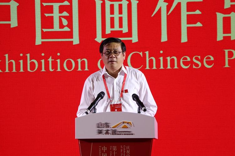 5中国美协分党组书记、驻会副主席、第十三届全国美展组委会副主任徐里在开幕式上讲话.jpg