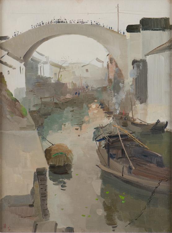 《故乡清晨》1960年-木板油画高60.4cm × 宽45cm画家捐赠新加坡国家美术馆藏   画家捐赠.jpg