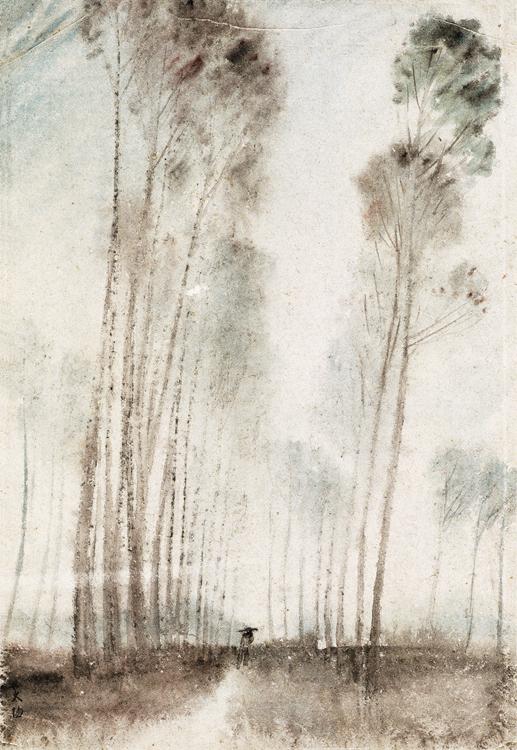 阳太阳  雨41.4cm×28.3cm?水彩画?1954年中国美术馆藏.jpg