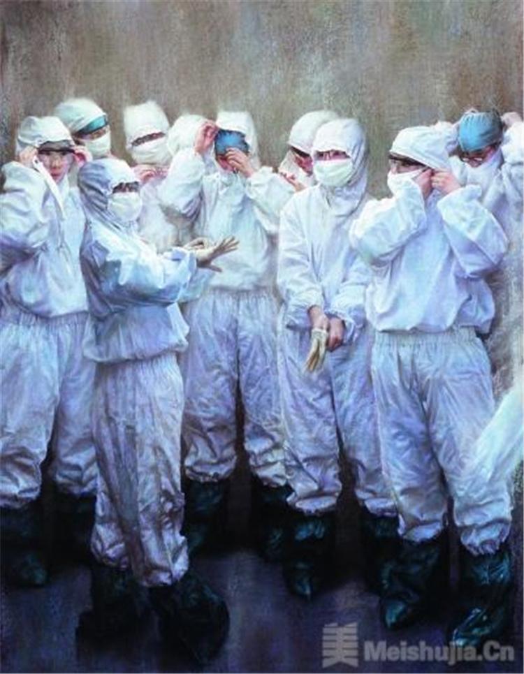 众志成城、抗击疫情——美术界致敬最美逆行者