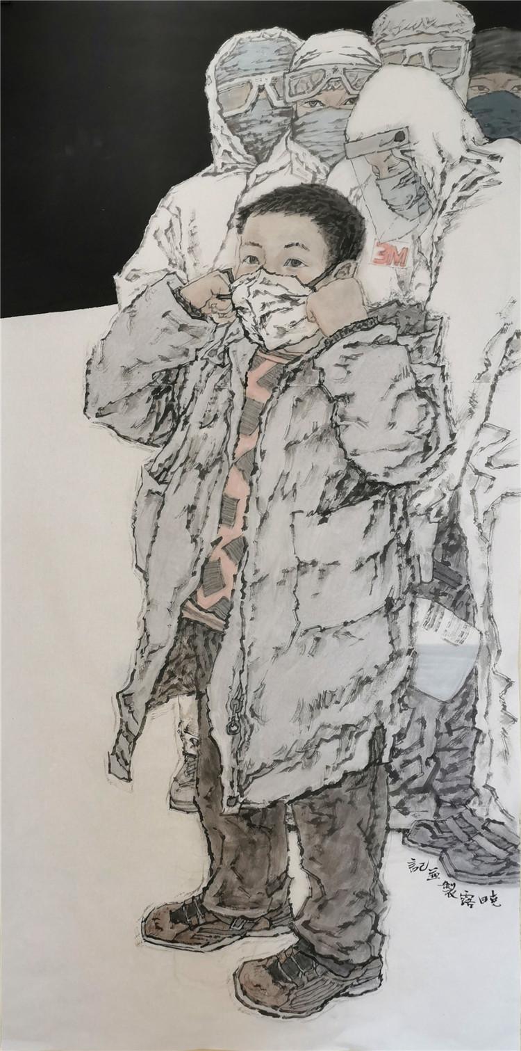 《守护》 王晓露  中国画.jpg