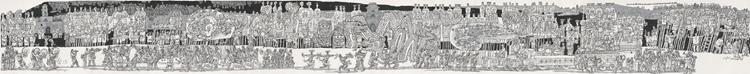 杨晓阳《丝绸之路――甘肃苦水社火》129cm×1308cm 国画.jpg