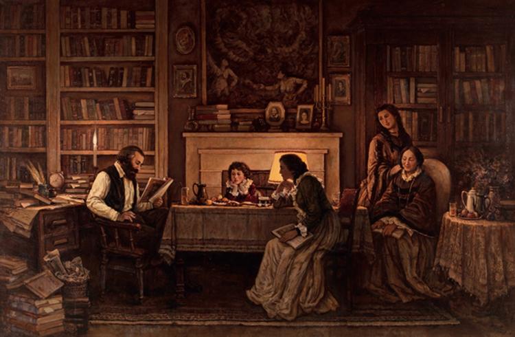 170《革命的一家人》-孙景波-2018年-油画-250厘米×380厘米.jpg