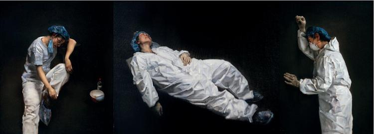 197永恒与短暂  庞茂琨  油画  180cm×500cm.jpg