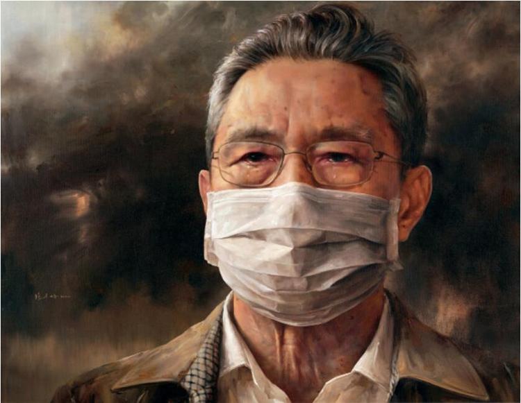 212中国共产党员――钟南山  冯少协  油画  180cm×230cm.jpg