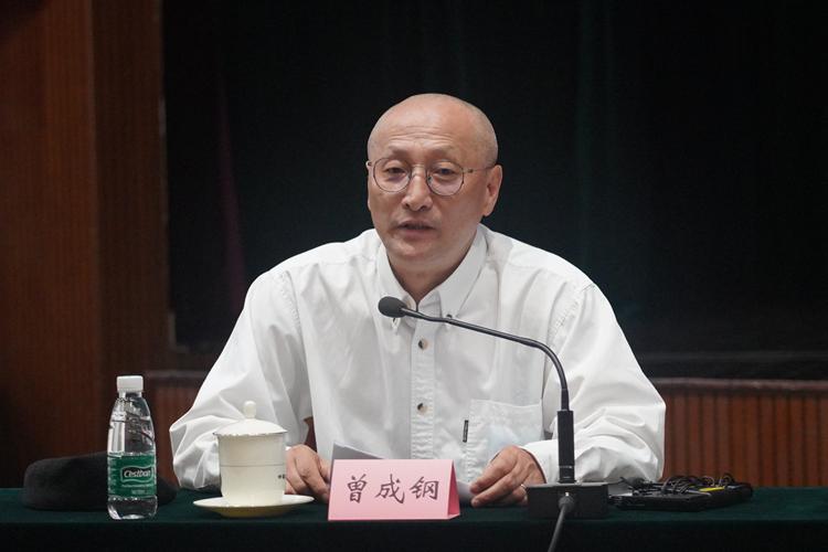 中国美协副主席、上海大学美术学院院长曾成钢发言.jpg