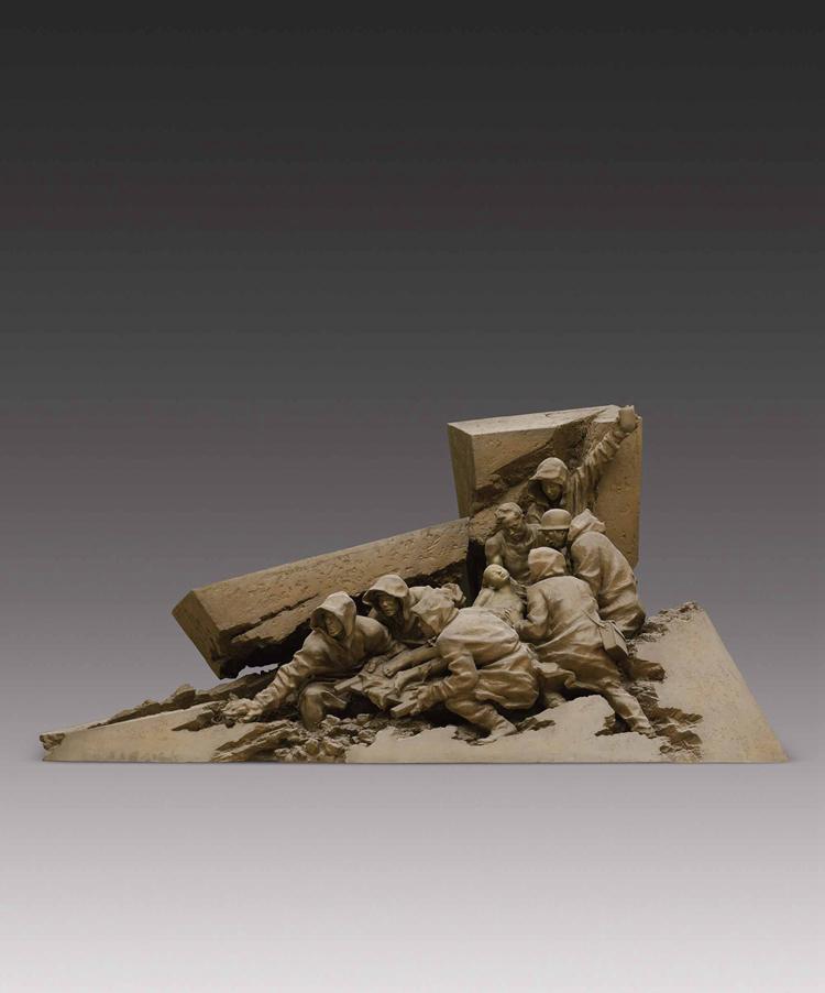 150-《风雨同舟》-邓柯-雕塑-215 cm×400 cm×168 cm.jpg