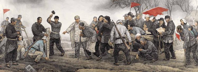 57-《耕者有其田》-吴宪生、韩京雷-中国画-280 cm×800 cm.jpg